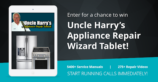 "Win a free ""Appliance Repair Wizard"" tablet from Uncle Harry's Appliance Repair School"