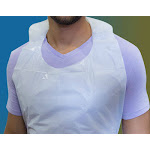 """24"""" x 42"""" Poly White Aprons, Case of 1,000"""