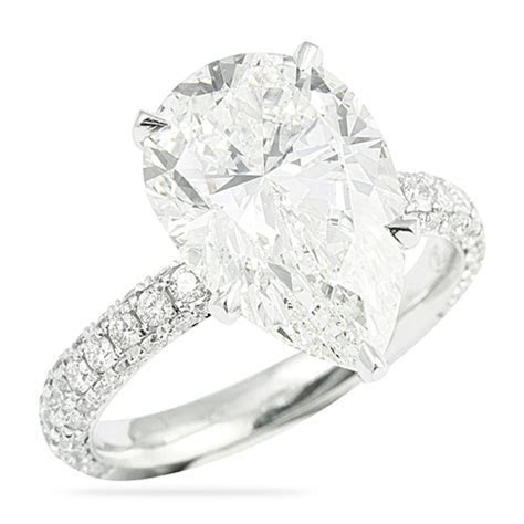 5.00 CT PEAR SHAPE DIAMOND ENGAGEMENT RING