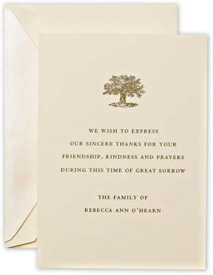 Personalized Crane Letterpress Sympathy Cards