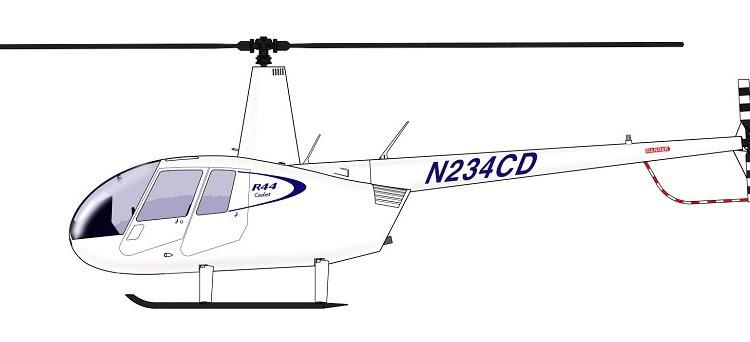 Robinson R44 Cadet desenho 900px