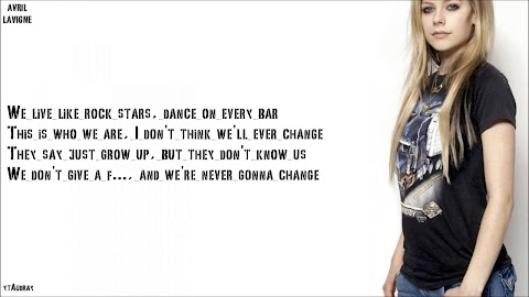 Avril Lavigne Heres To Never Growing Up Lyrics