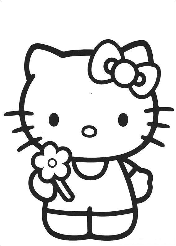 Coloriage Hello Kitty Gratuit Ancenscp