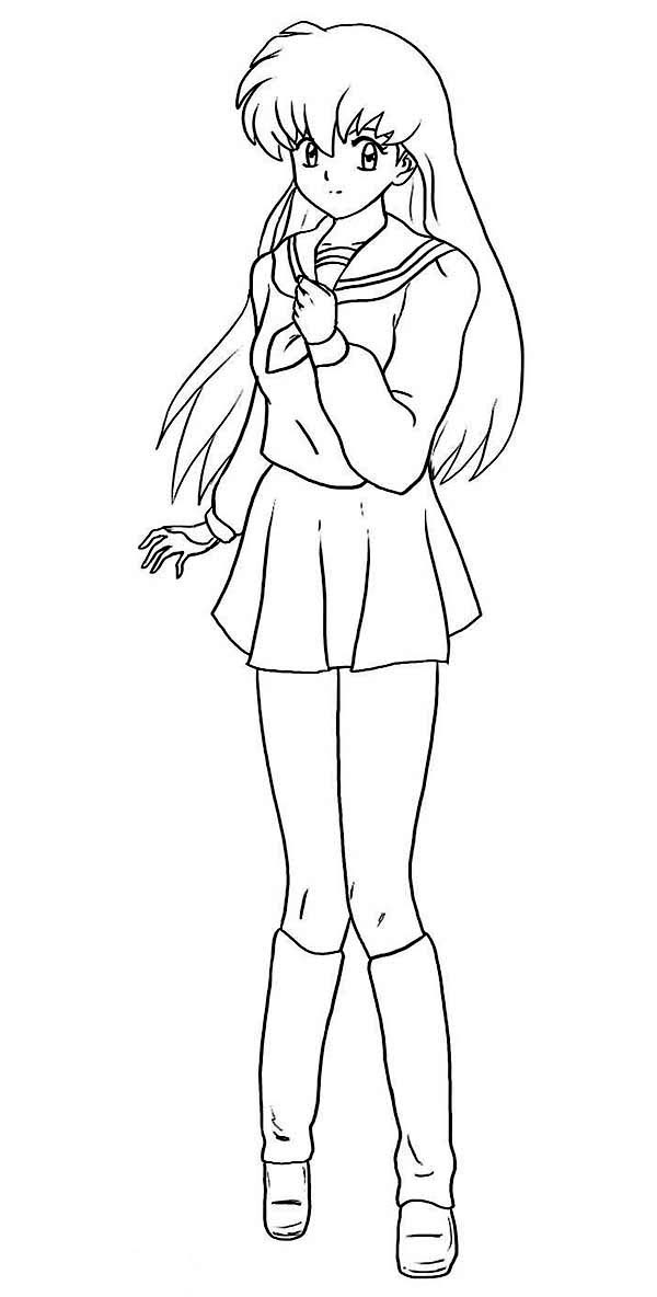 Best nuyasha Anime Coloring Page