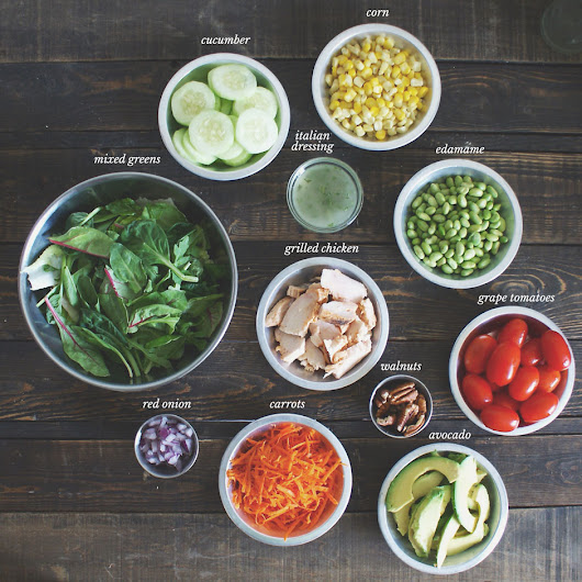 How to Make a Chicken Vegetable Power Salad