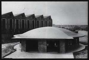 Jarrow side, entrance building completed