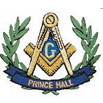 "Prince Hall Mason Wreath Iron-On Patch [2.25""]"