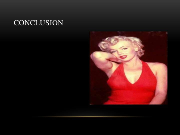 a good thesis statement about marilyn monroe