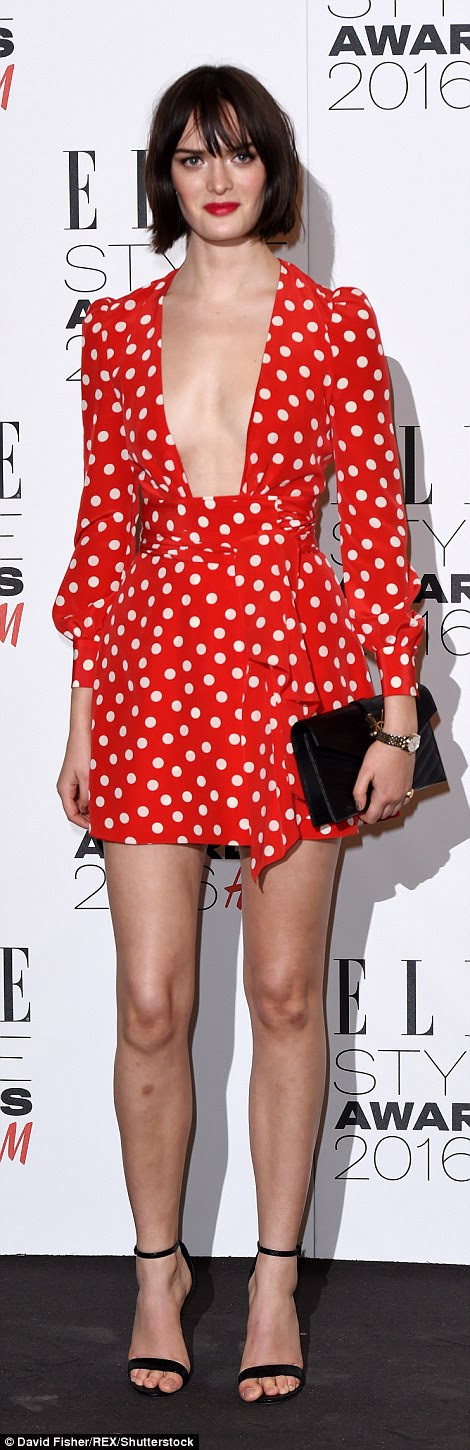 Cutie: While model Sam was looking cute in polka dots