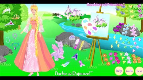 Princess Dress up Barbie As Rapunzel Game   YouTube