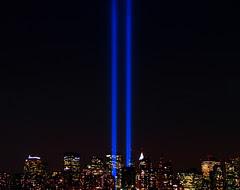 World Trade Center Lights .. New York City ...9/11/08