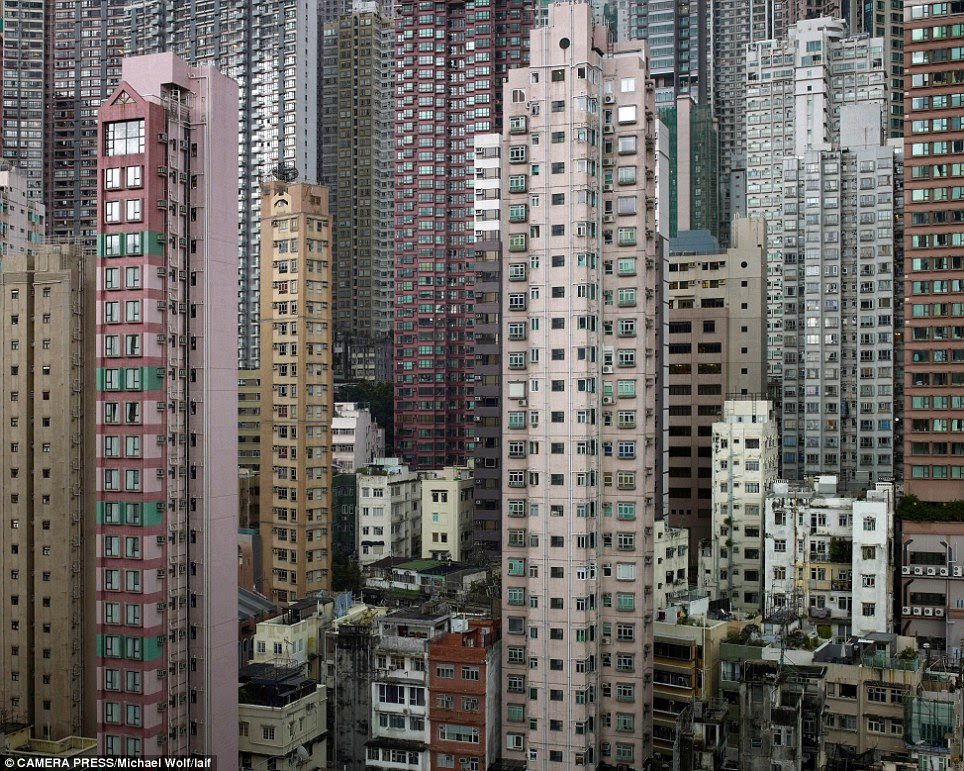 Human battery hens: With a land mass of 1,104sq km and a population of 7 million, Hong Kong is one of the most densely populated areas in the world