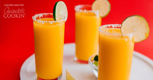 Mango Margarita Slush: a blended tequila and mango slush