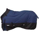 Waterproof Poly Turnout Blanket w/ Adjustable Snuggit Neck Heavy 75 Inch, Navy