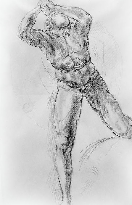 Old Masters Study Nude Man By Annibale Carracci by Irina Sztukowski