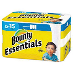 Bounty 75720 Essentials Select-A-Size Paper Towels, 2-Ply, 78 Sheets/Roll, 12 Rolls