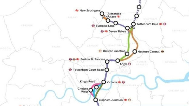 Crossrail 2 map