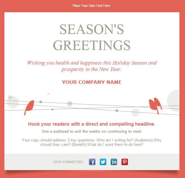 Christmas card messages business example ucap natal m4hsunfo