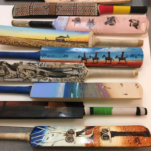 Man with autism plans to start business combining cricket bats with art
