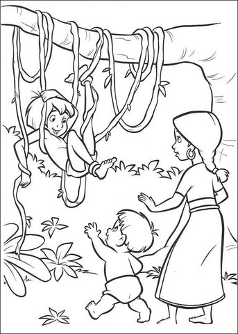 Disegno Di Mowgli Nella Giungla Da Colorare Disegni Da Colorare E