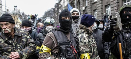 Neo-Nazis at Ukrainian protests. (photo: Drugoi)
