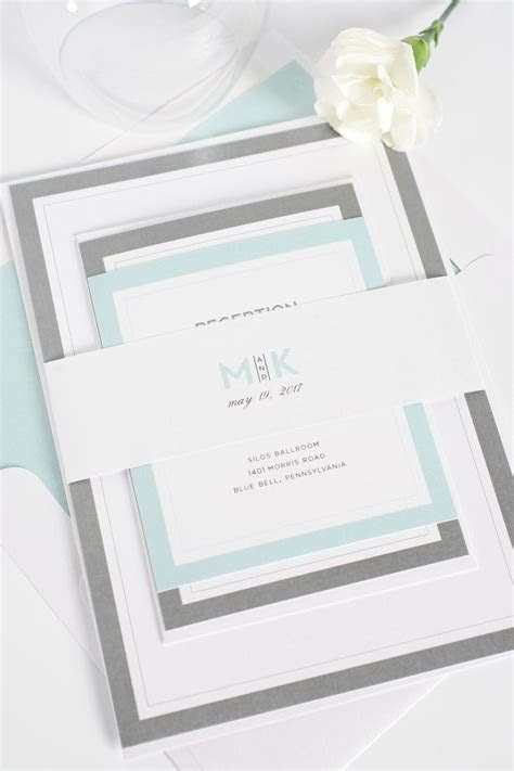 17 Best ideas about Mint Wedding Invitations on Pinterest