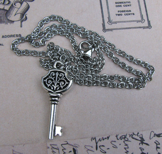 Filigree Key Chain Necklace