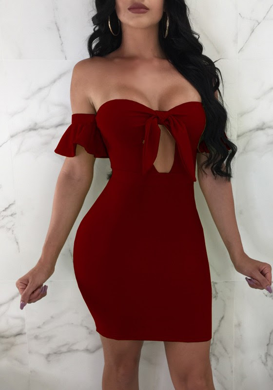 For girls haband Deep V Neck Vintage Bell Sleeve Bodycon Dresses youtube philippines for work