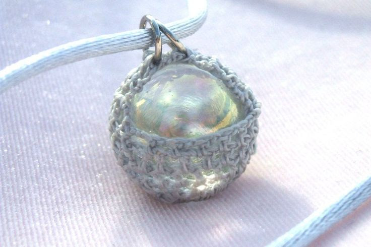 Silverish Gray Marble Necklace by Diamondesque-Jewelry