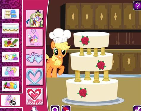 Play free My Little Pony Wedding Cake Online games.