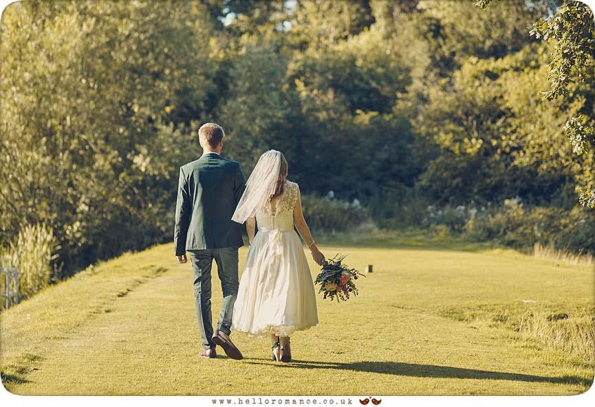 Walking wedding photo - www.helloromance.co.uk