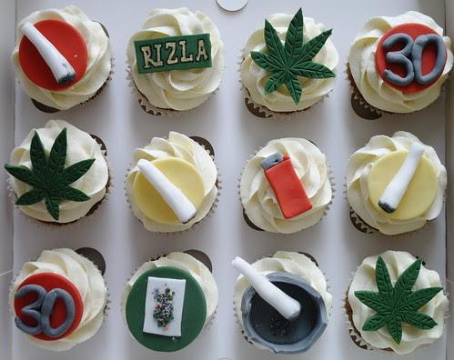 Cannabis Themed Cupcakes