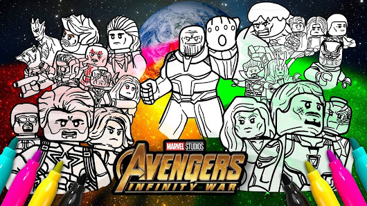 Avengers Infinity War Cover Coloring Page