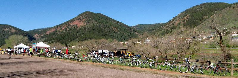 The Palmer Lake rest stop.  The original Elephant Rock lurkes somewhere around here.