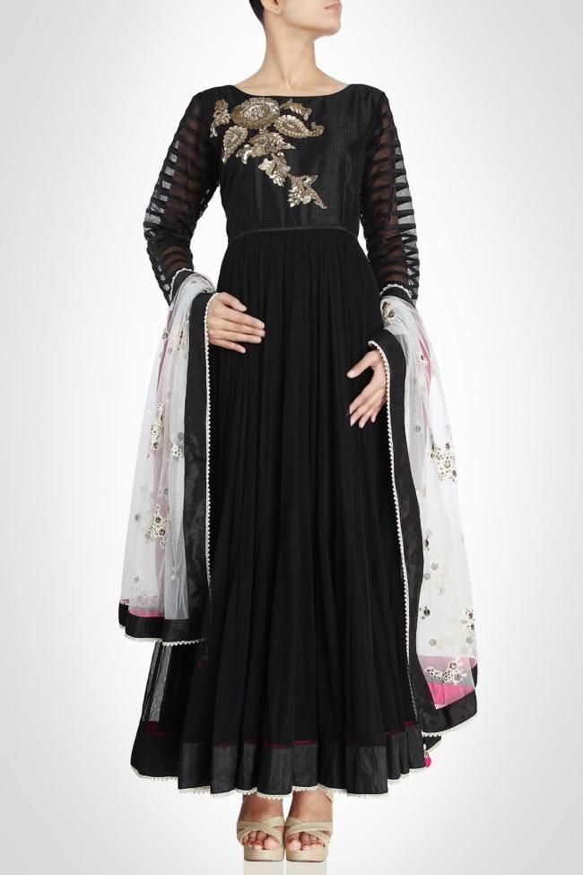 Beautiful-Gorgeous-Wedding-Bridal-Anarkali-Frock-Dresses-for-Girls-Fashion-by-Designer-Kiran-&-Shruti-Aksh-1