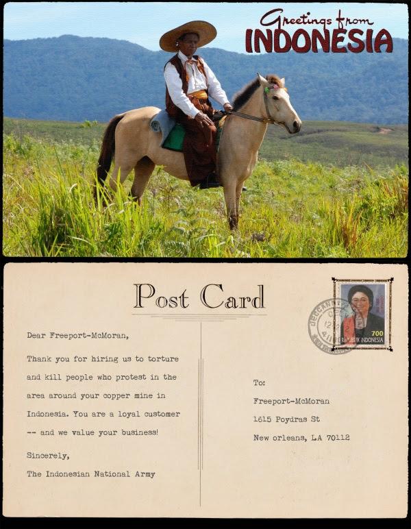 TNI writes Freeport McMoRan a note of thanks.