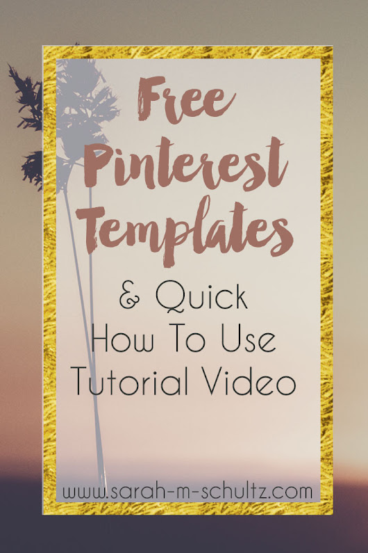 Freebie Friday: Pinterest Templates - Sarah M Schultz Designs