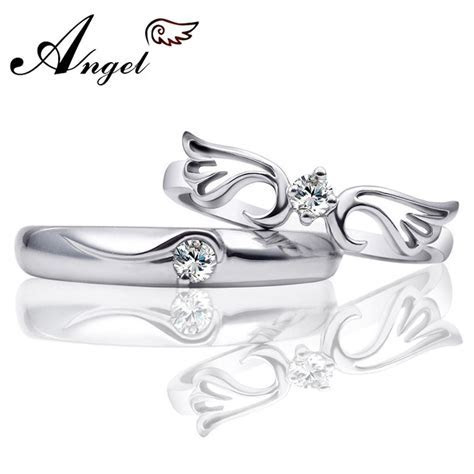 Wing & Crown His and Hers Promise Rings Matching Set for