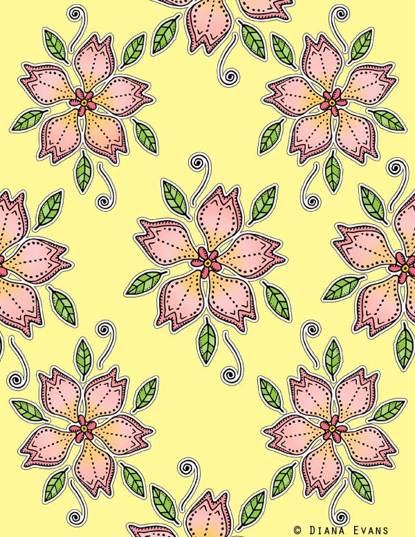 surface design floral