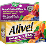 Natures Way - Alive! Once Daily Women's 50+ Multivitamin - High Potency (50 Tablets) - Women's 50+ Multis