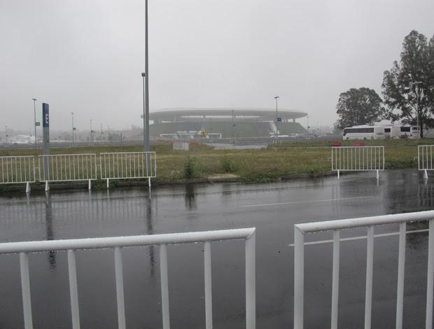 Estádio Omnilife Pan Guadalajara grades (Foto: Gustavo Rotstein/Globoesporte.com)
