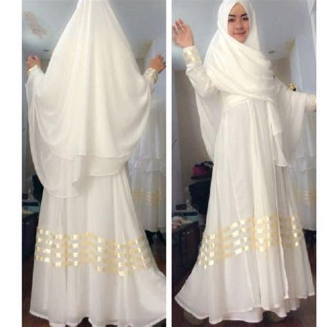 gamis syari rizka sifon  model baju muslim pesta