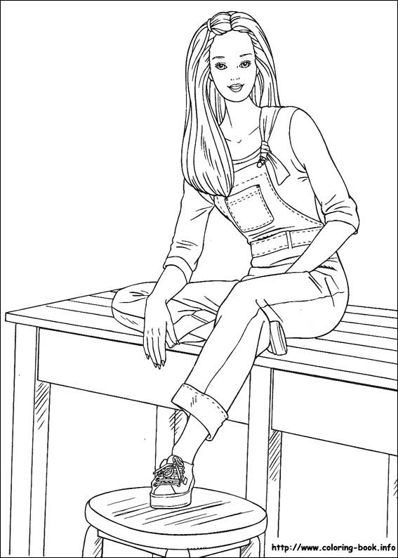 Barbie Coloring Pages On Coloring Bookinfo