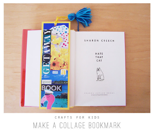 Crafts for Kids: Make a Collage Bookmark - Playful Learning