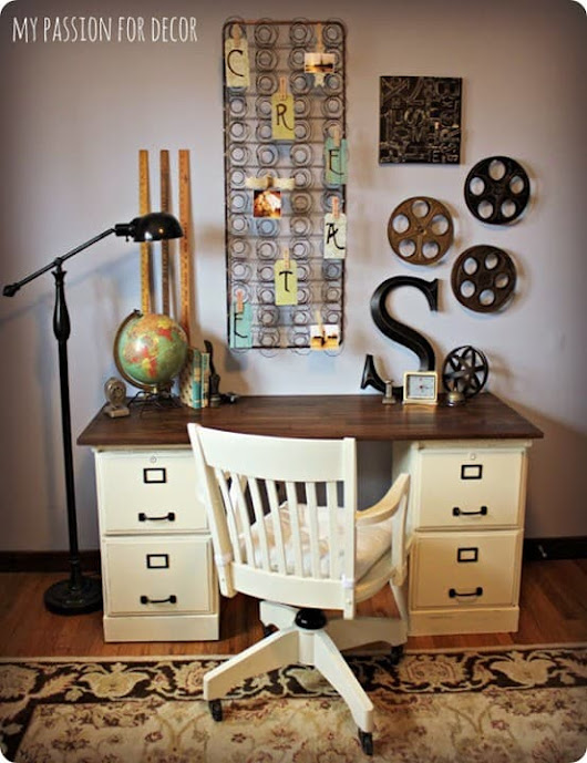 Goodwill File Cabinets to Hip DIY Desk