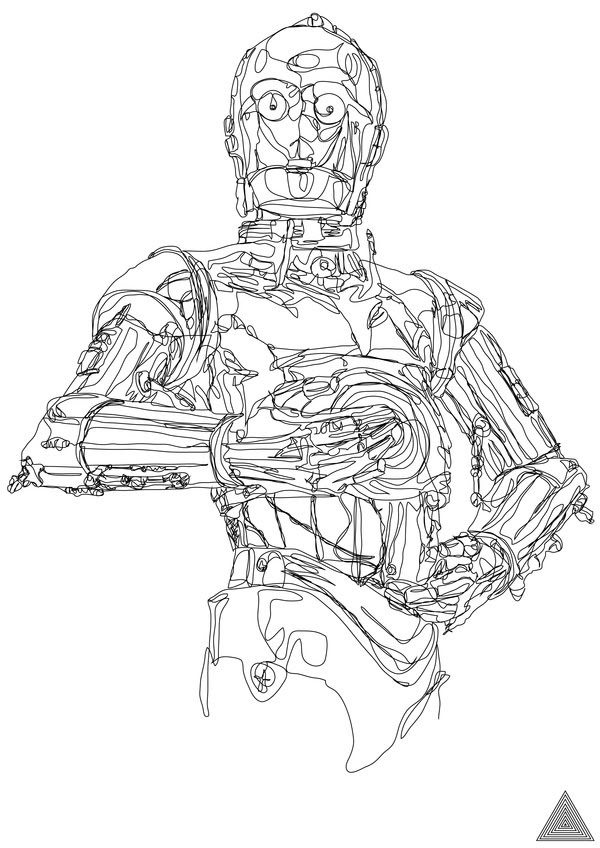 Things We Saw Today: C-3PO, Drawn in One Continuous Line ...
