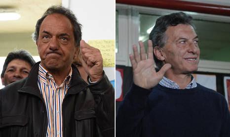 Daniel Scioli e Mauricio Macri