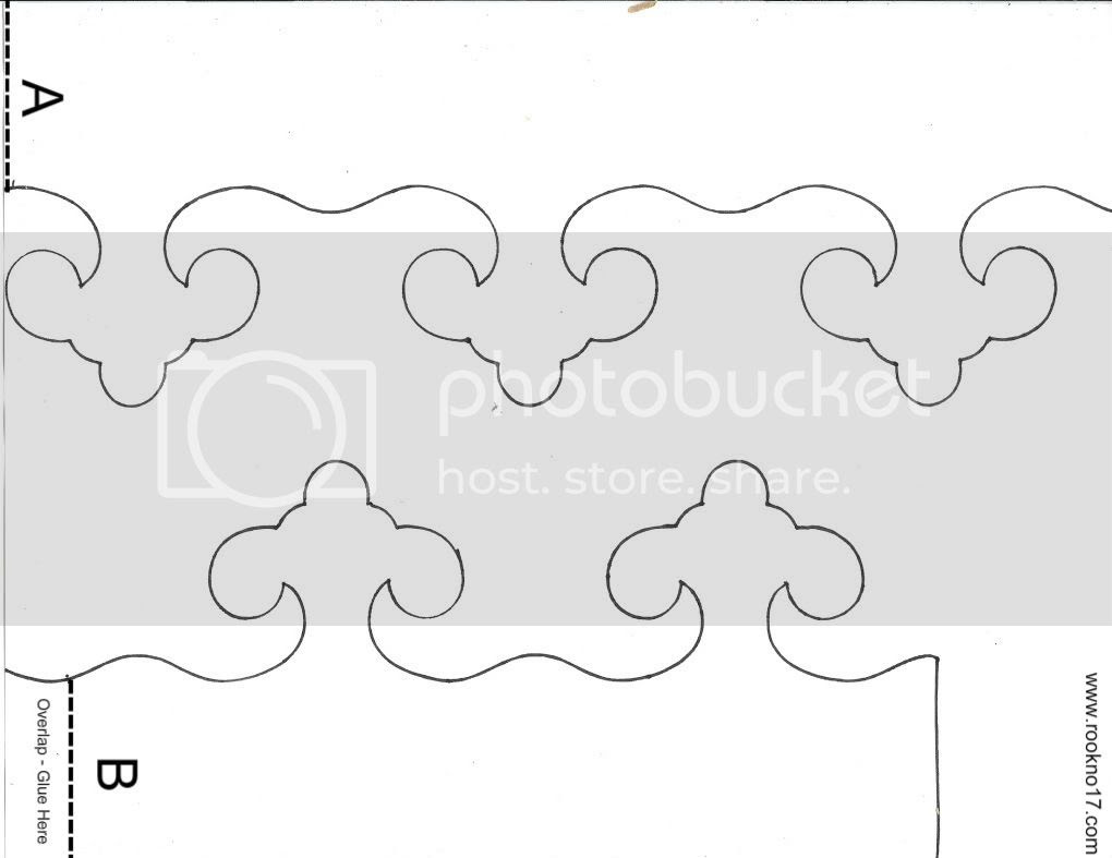 Paper Crown Template, Print this template on heavy cardstock. Cut out, then use to trace on the paper of your choice.  Cut out the traced pieces, then match up the dotted line on side A with the dotted line on side Be and glue in place at the overlap.