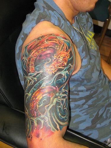 Amazing Right Half Sleeve Animal Tattoo