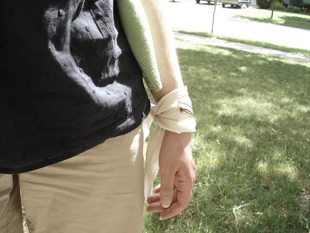 Embroidered Bandanna bracelet